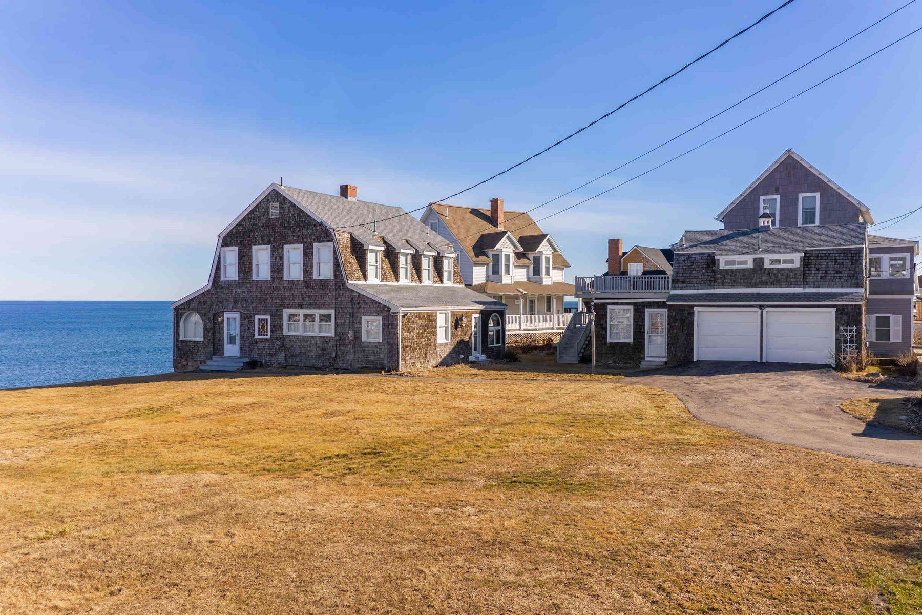 Single Family Homes for Sale at Waterfront Grambrel on Nubble Lighthouse Peninsula in York 124 Broadway, York, ME 03909