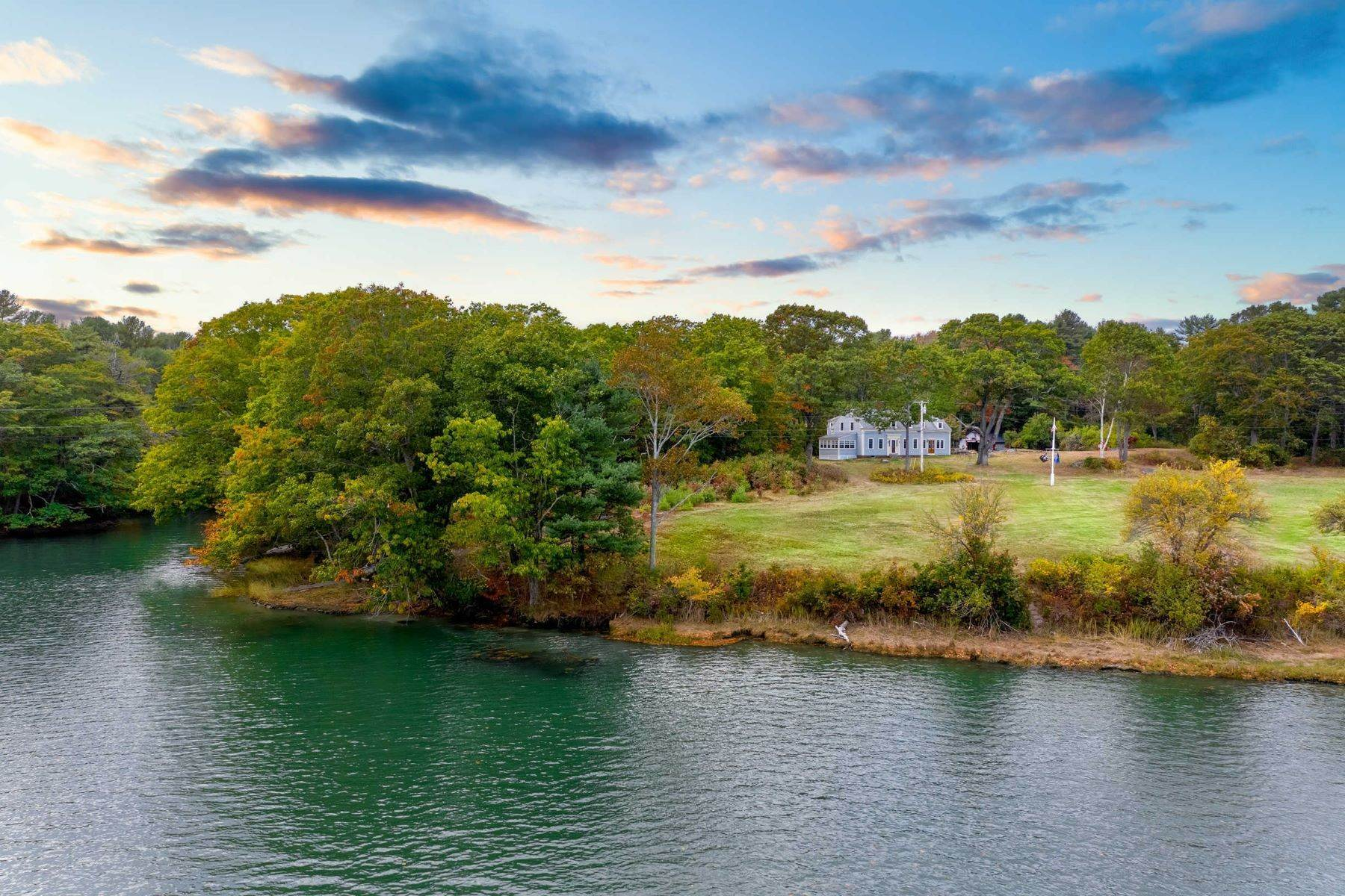 Single Family Homes for Sale at Sea River Oaks, Historic Riverfront Residence 51 River Locks Road, Kennebunk, ME 04043